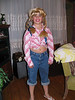 Jackson dressed as a girl for Halloween 2005